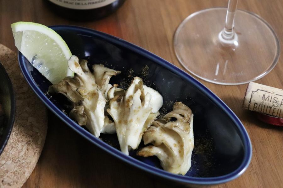 舞茸のオーブン焼き クミン・レモン風味